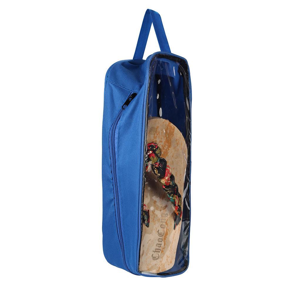 Visual Type Outdoor Travel Waterproof Canvas Nylon Cloth Shoe Storage Bag Footwear Organizer Pink