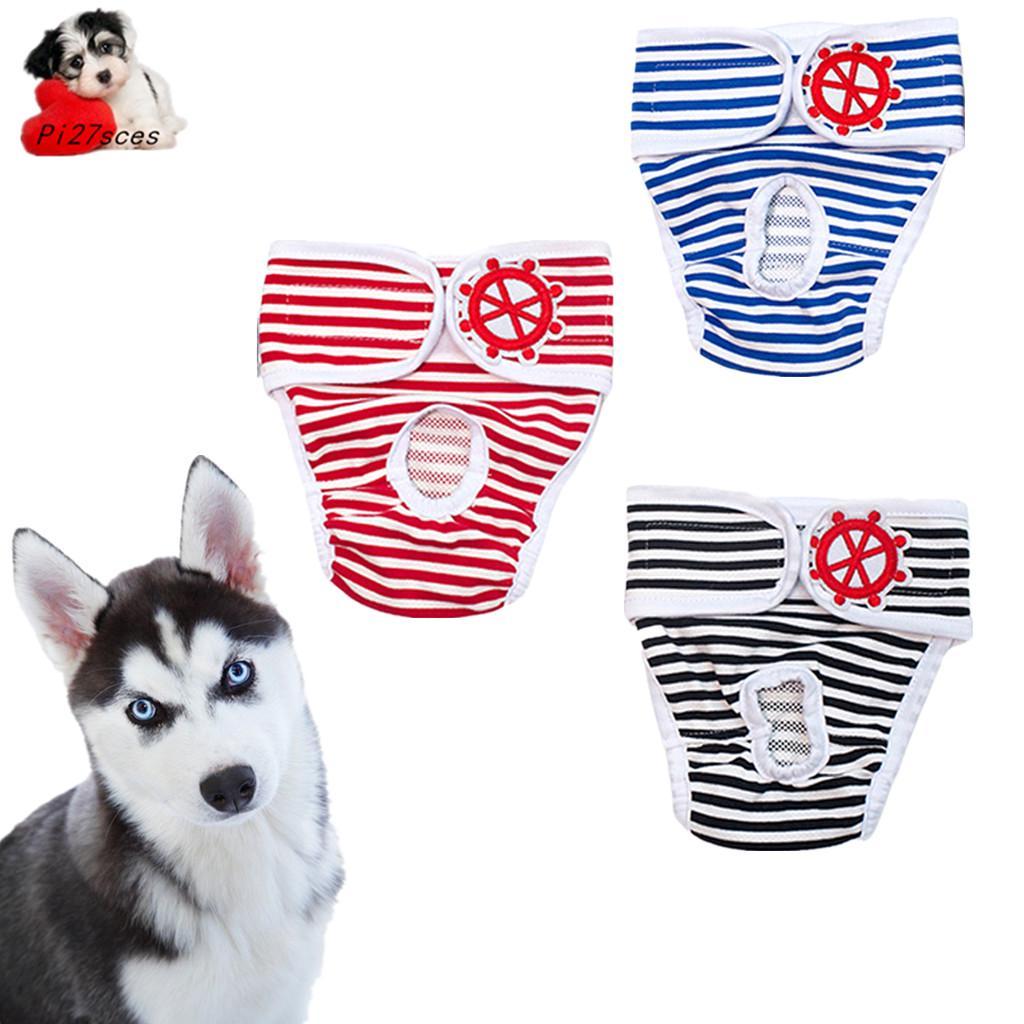 Azul S Pantalones Sanitarios para Perros Puntos Lindos Mascotas Perro Gato Gato Pantalones Cortos fisiol/ógicos Perrito Gatito Tirantes Ropa Interior Pantalones Calzoncillos Sanitarios