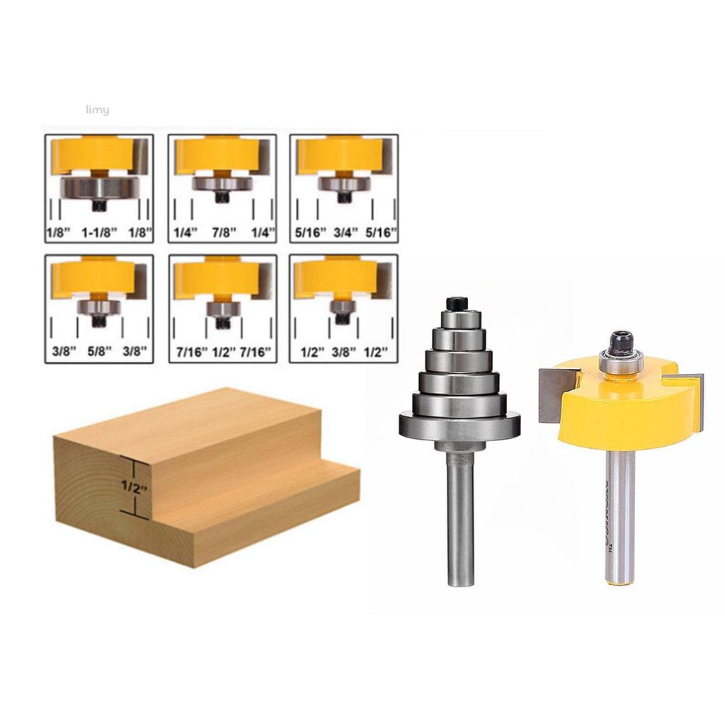 "5//8/"" 1//2/"" 3//8/"" 3//4/"" 6PCS 1//4/"" Shank Carbide Tipped Router Bits 1//4/"" 5//16/"""