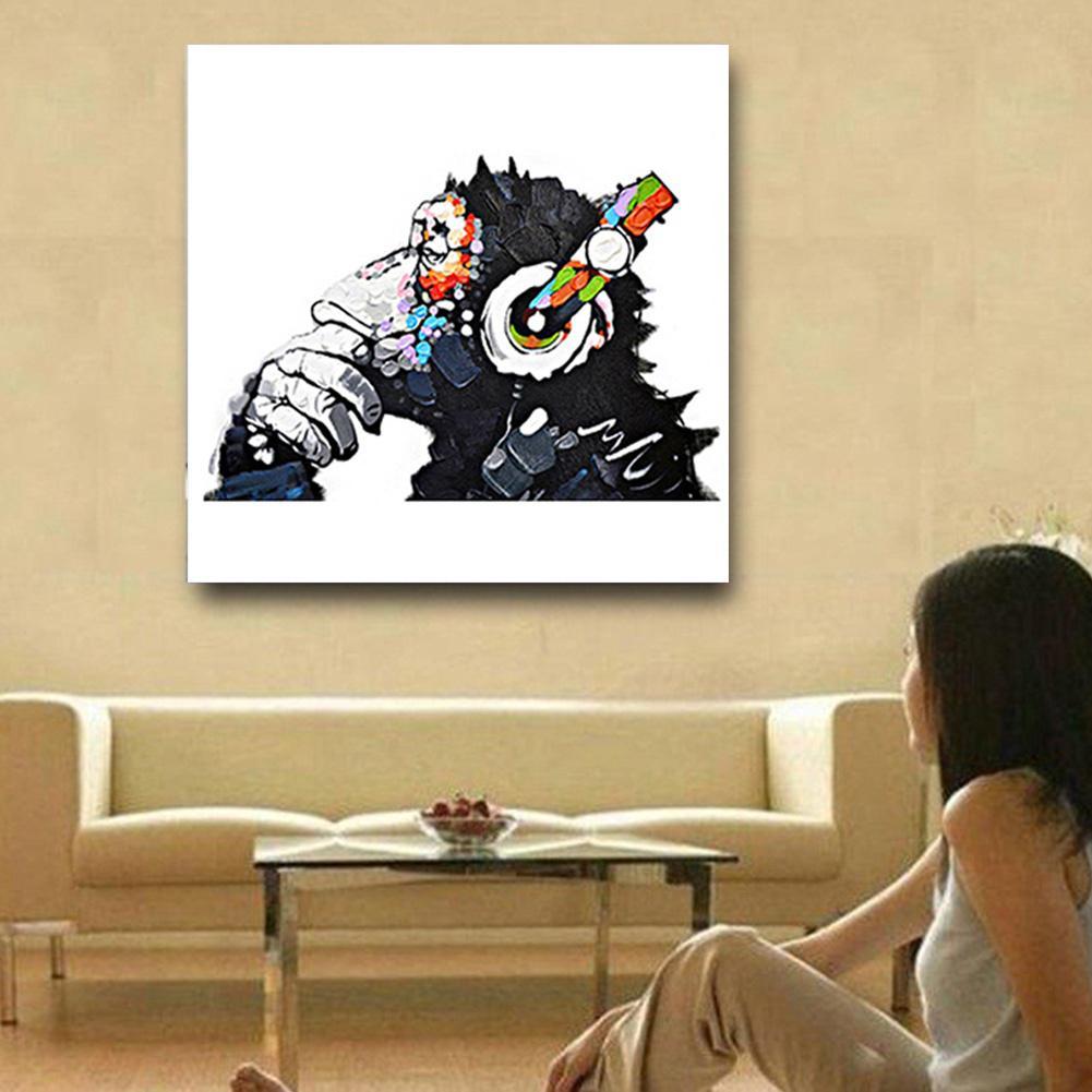 DJ Orangutan Apes Oil Painting Canvas Print Home Wall Art Decor ...