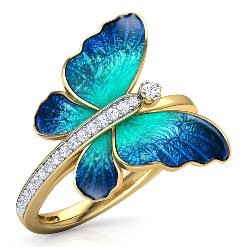 Designer women/'s ring in Silver 925 resin and glass crystal