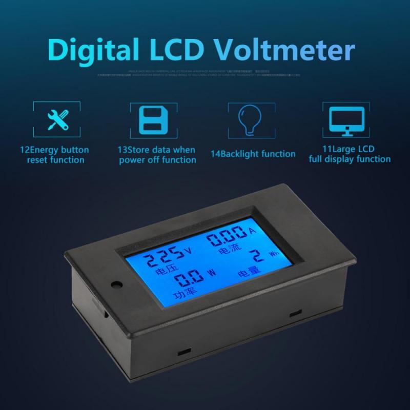 Spannungsanzeige AC 10A Meter Mini Voltmeter Drähte Dual 60V-500V Panel Tester