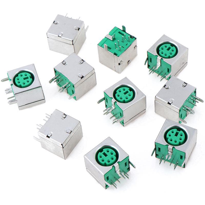 10Pcs PS2 Jack Mouse Keyboard 6Pin Plug Connector Mini Female Pcb Mount Ic Ne il