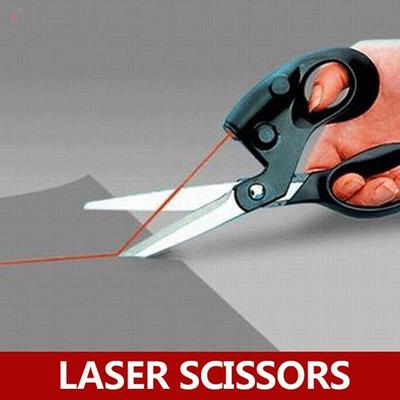 Straight Laser Guided Fabric Trimmer Sewing Cut Scissors Paper Craft