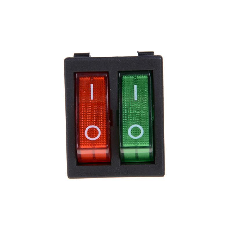 Rot grünes Licht ein-/Boot Schalter 6Pins Doppel SPST 16A 250V AC ...