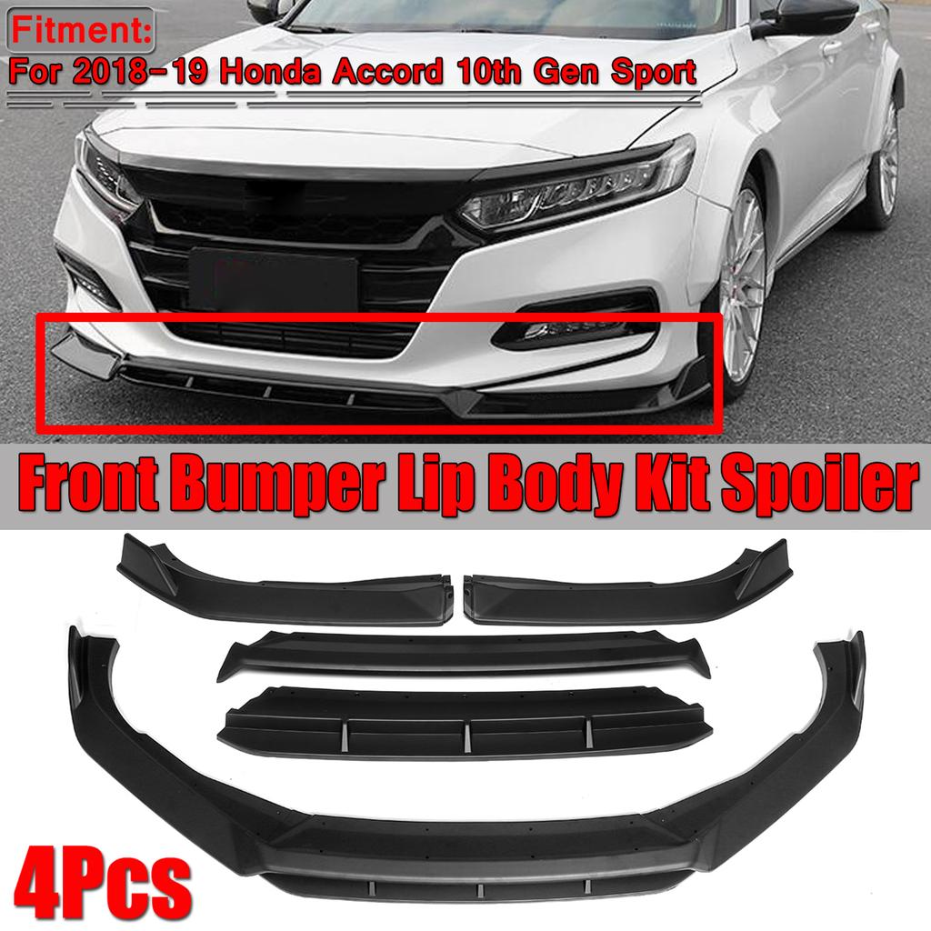 4pcs Front Bumper Lip Body Kit Spoiler For Honda Accord 10th Gen Sport 2018 2019 Buy At A Low Prices On Joom E Commerce Platform