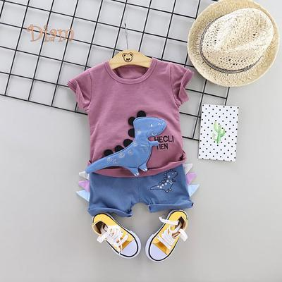 PCLOUD Toddler Boys and Girls Cute Dog Short Sleeve T-Shirt and Jeans Suit