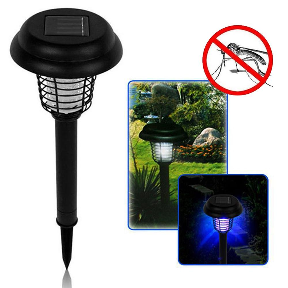Solar Bug Zapper Lamp Electric Mosquito Insect Fly Killer LED Light Pest Control