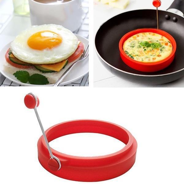 2 x anillos de freír huevos de silicona molde de freír Fried cazador furtivo perfecto para panqueques Anillo
