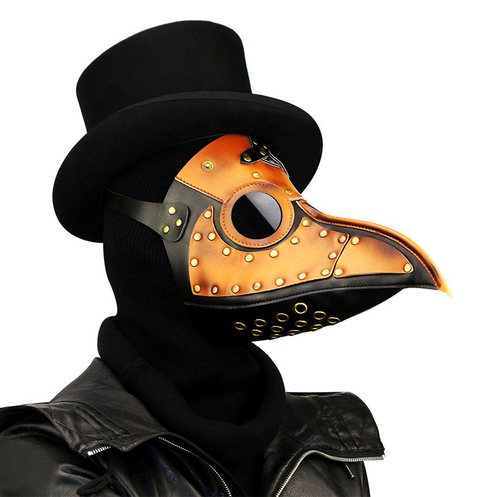 NEW Halloween makeup Cosplay prop Plague doctor long bird mouth masks Retro Punk