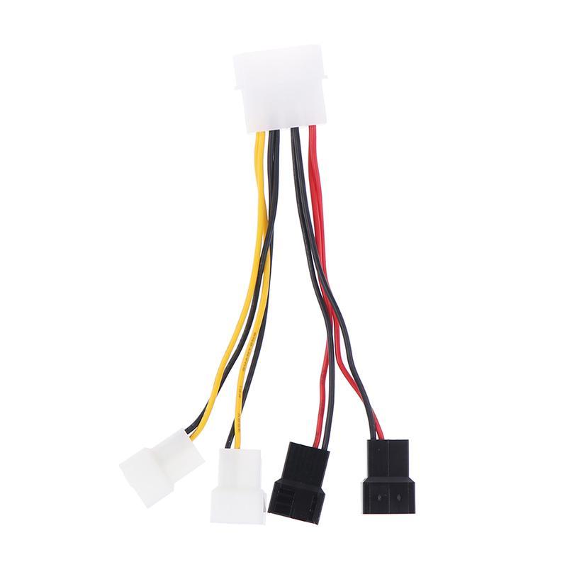 Компьютерный адаптер вентилятор кабель Большой 4Pin до 3Pin Одна точка четыре D типа 3Pin 2 Кабель контроля скорости – купить по низким ценам в интернет-магазине Joom