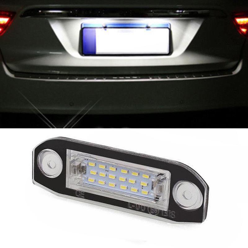 2PCS Car License Number Plate 18LED Lights for Volvo V70 XC70 S60 S80 XC90