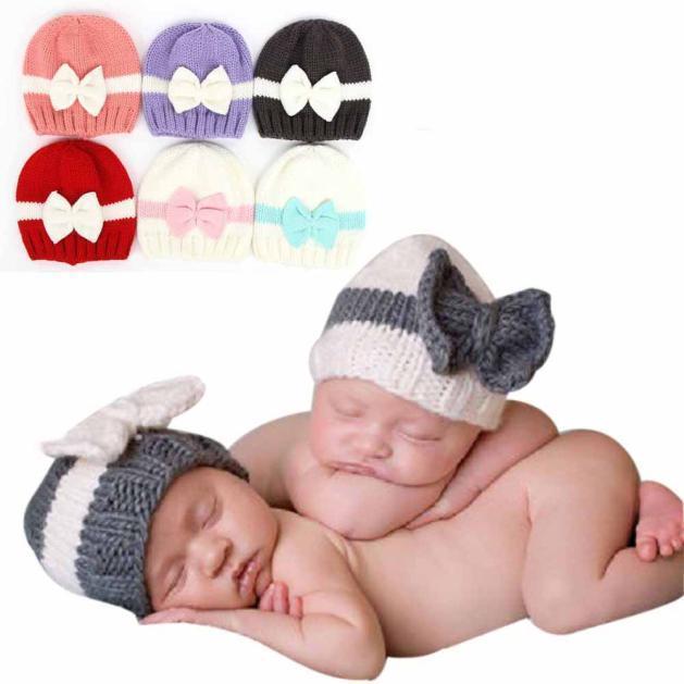 Niño infantil del bebé para hacer punto del ganchillo del sombrero ...
