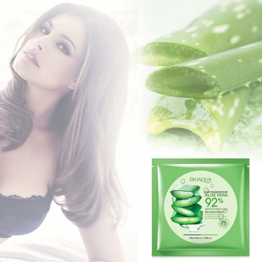 Aloe Vera Gel Face Mask Wrapped Moisturizing Oil Control Shrink Bioaqua Original 2 Of 5
