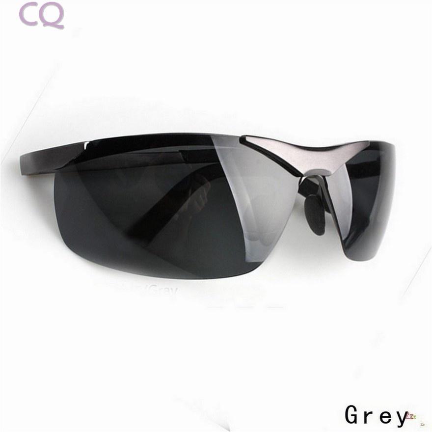 Hombres policía estilo Metal marco polarizado gafas de sol gafas ...