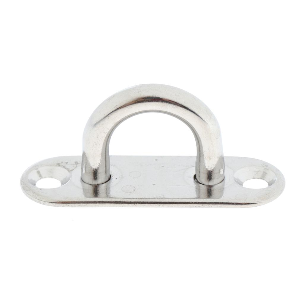 5mm 316 Stainless Steel Oblong Pad Eye Plate Eye Hook Staple for Boat Marine