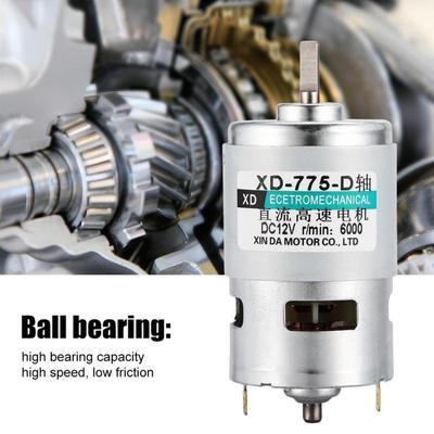 High Speed Electric 12000 tr//min 775 Motor DC12V 5 mm arbre de roulement à billes couple