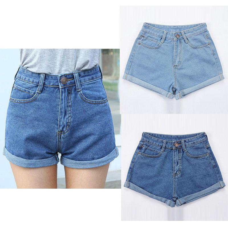 a424edb2fc0 Женщины высокой талии шорты джинсовые Бойфренд – купить по низким ...