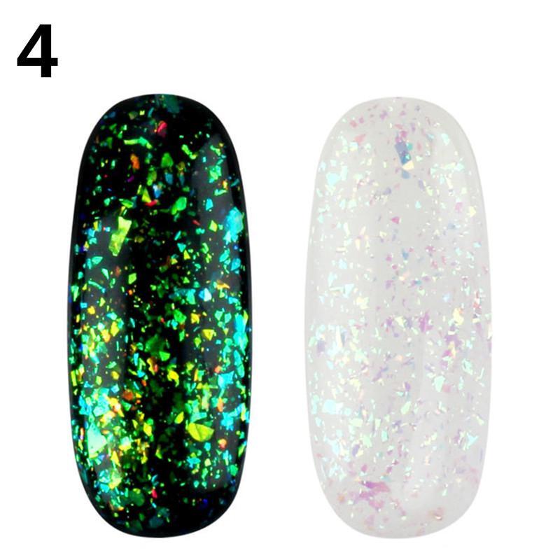 1pc camaleón galaxia UV Gel Glitter DIY Polaco uñas Led lámpara ...