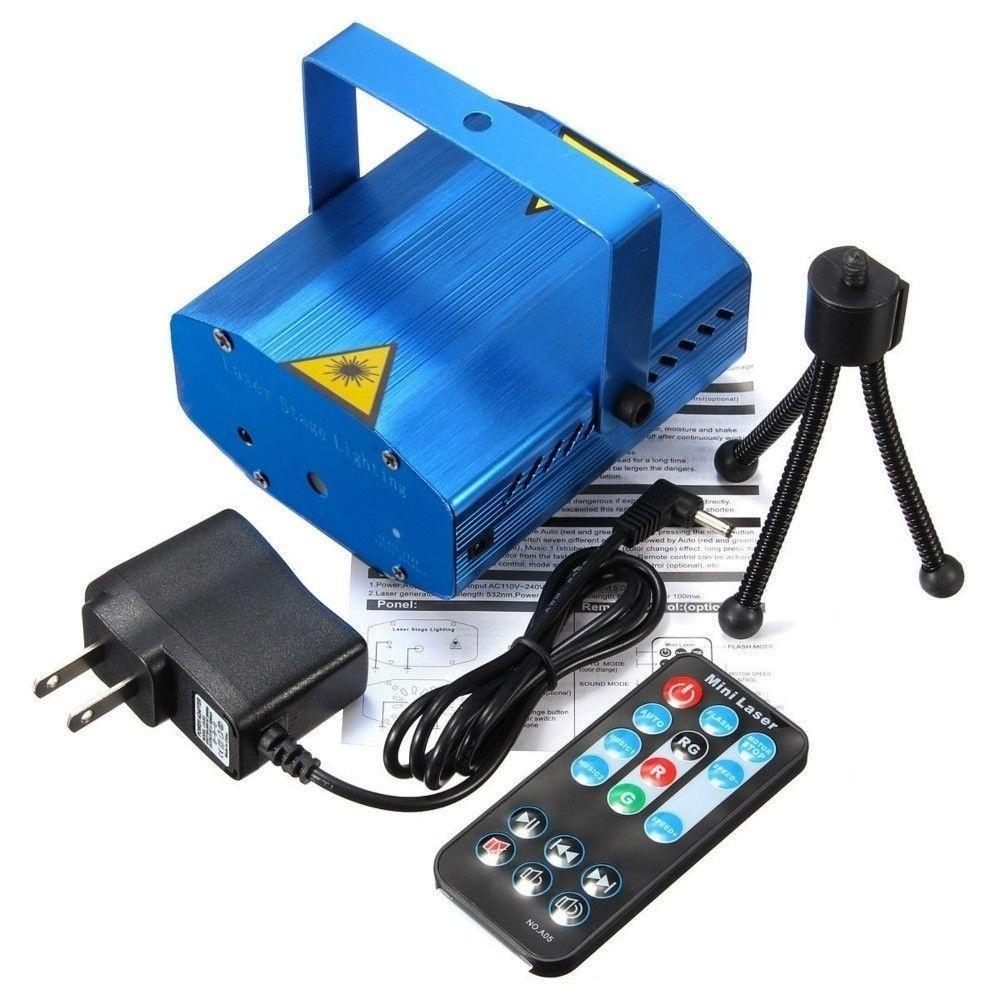 Mini Laser Projector Stage Light Led Rgb Lighting Xmas Party Ktv Dj Multicolor Ampamp Tripod Blue 1 Of 10