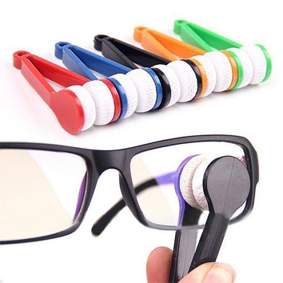 Мини портативный очки чистого кисть фото