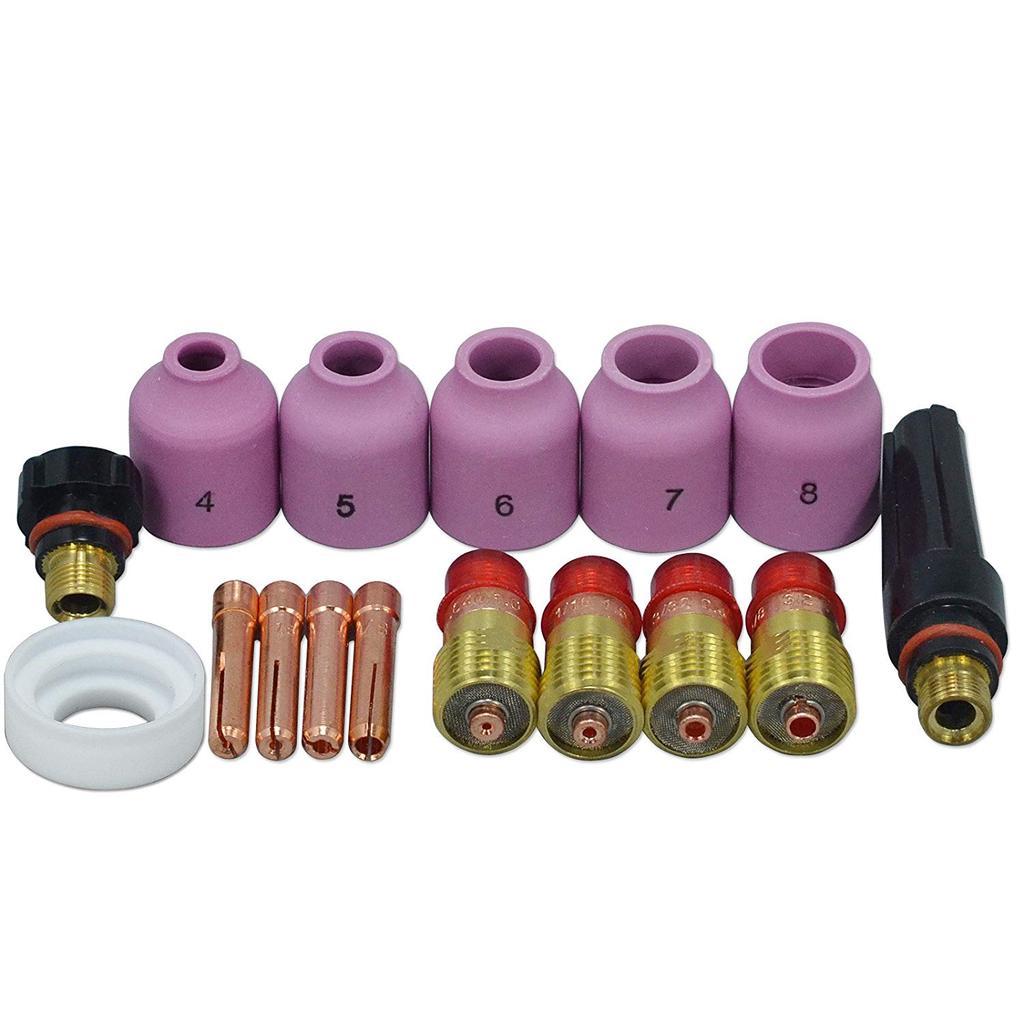 49× TIG Welding Accessories WP-17//18//26 Gas Lens Glass Cup Alumina Nozzle Welder