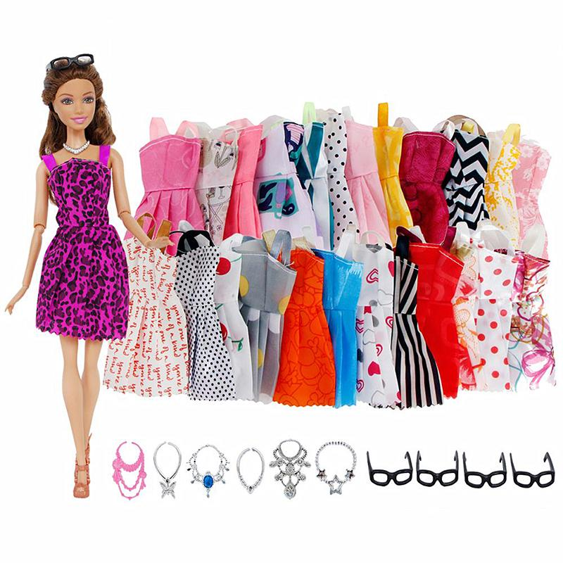 Popular Barbie Doll sized Cloth//Accessory@@ONE pc Casual Dress-ON SALE Girl Gift