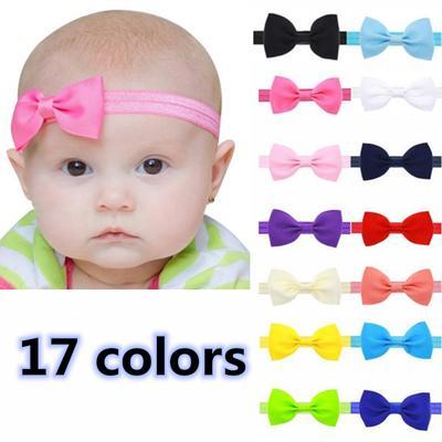 dd5888b59 Cinta elástica de pelo con corbatín para bebés - comprar a precios ...