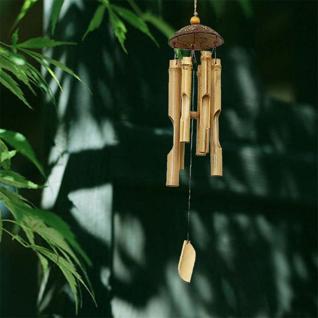 Smarrt Bamboo Wind Chimes And Coconut Fair Trade Wind Chime Outdoor By Gifts 46cm 60cm Long Buy At A Low Prices On Joom E Commerce Platform