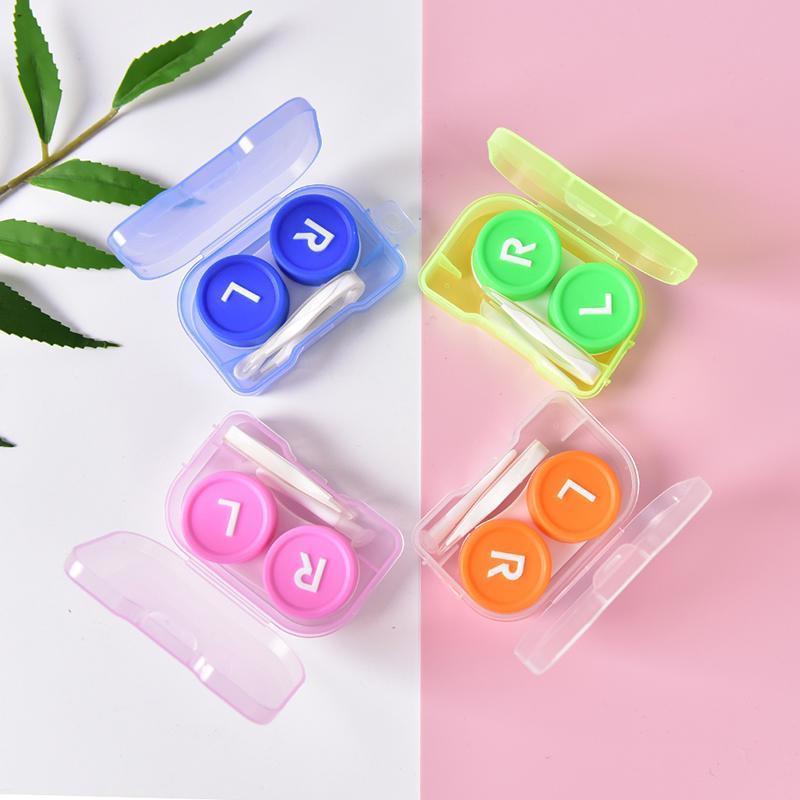 Простые прозрачные портативный контактные линзы дело хранения контейнер Box держатель  – купить по низким ценам в интернет-магазине Joom