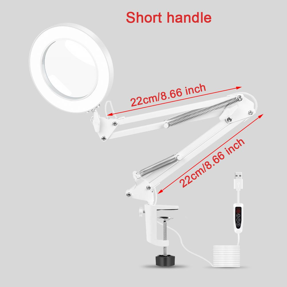 Newacalox Table Clamp Usb 5x Folding Magnifier Soldering Third Hand Tool Desk Lamp 3 Colors Led Illuminated Magnifying Glass Buy At A Low Prices On Joom E Commerce Platform