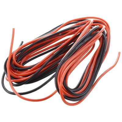 2 x 3M 20 Drahtstärke AWG Silikon Kautschuk rot schwarz Flexible ...
