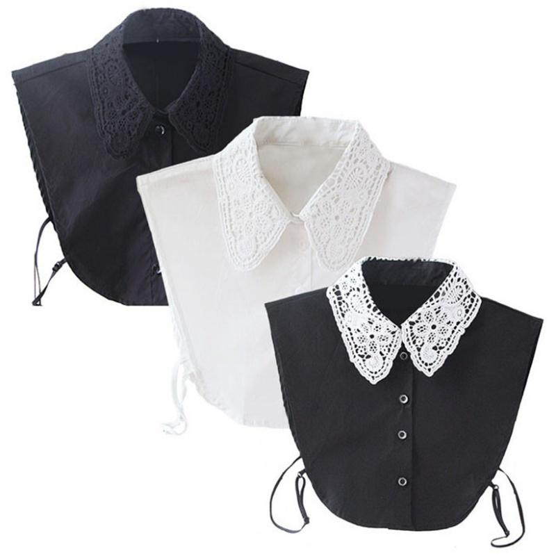 Floral Removable /& Detachable Dress Collar Retro Style Lace Collar Reversible Statement Vintage Lace Women Collar Peter Pan Floral Collar