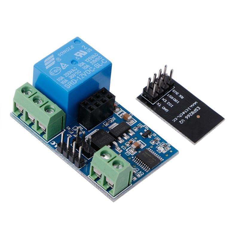 12V 2Bit ESP8266 WIFI Relay IOT Intelligent Home Mobile APP Remote Control