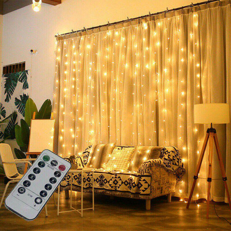 100//200//300LED Lights Window Light String Bedroom LED Fairy Living Room Curtain