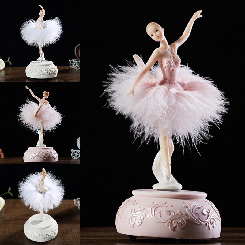 Балерина Музыкальная Шкатулка Танцующая Девушка Лебединое Озеро Карусель Перо – купить по низким ценам в интернет-магазине Joom