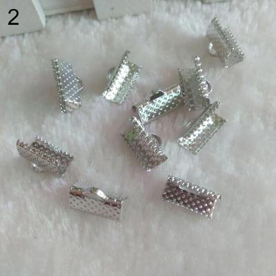 200pcs Snap on Pendant Bails Loops Jewelry Findings Connectors 7x3.5mm DIY