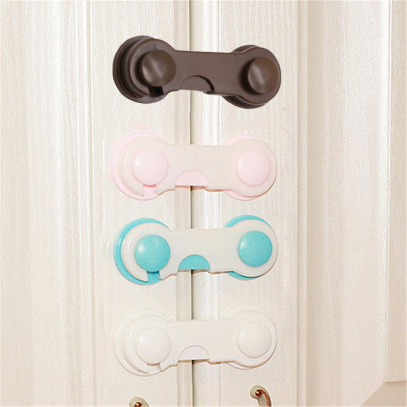 Security Lock Safety Buckle Baby Multifunctional Attach to Fridge and Drawer