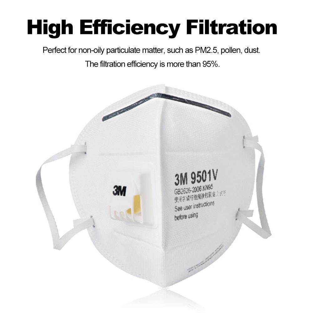 N95 Anti-Dust Particulate Respirator Masks PM2.5 Safety Face Masks 25Pcs 9501V