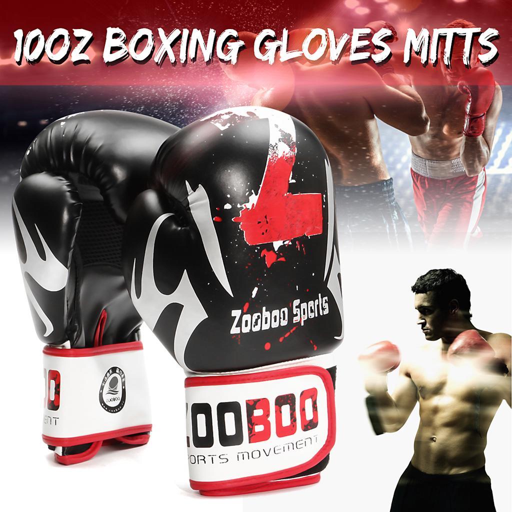 1 Pair Men MMA Boxing Gloves Punching Bag Fight Muay Thai Gym Half Finger Mitts