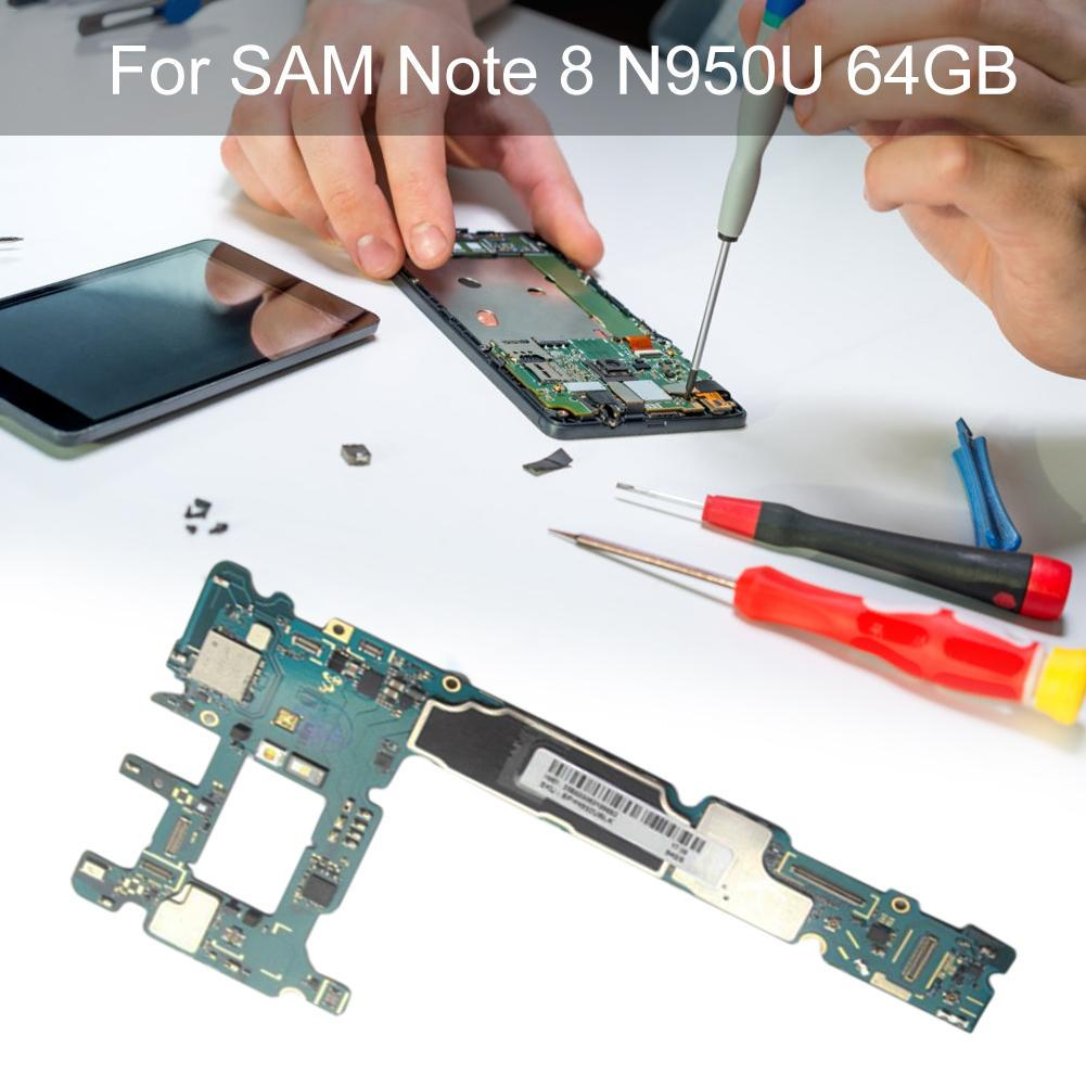 Main Motherboard Unlocked For Samsung Note 8 SM-N950U 64G Mobile Phone