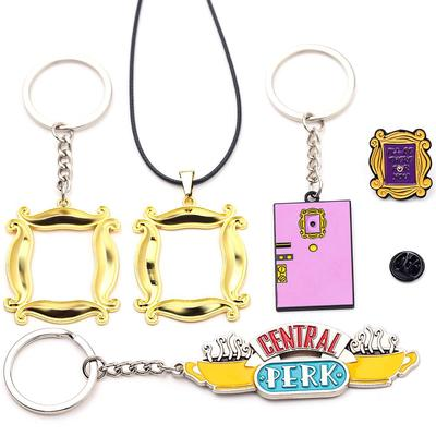 Friends Central Perk Set Enamel Metal Keyring Embroidered Patch Iron Sew