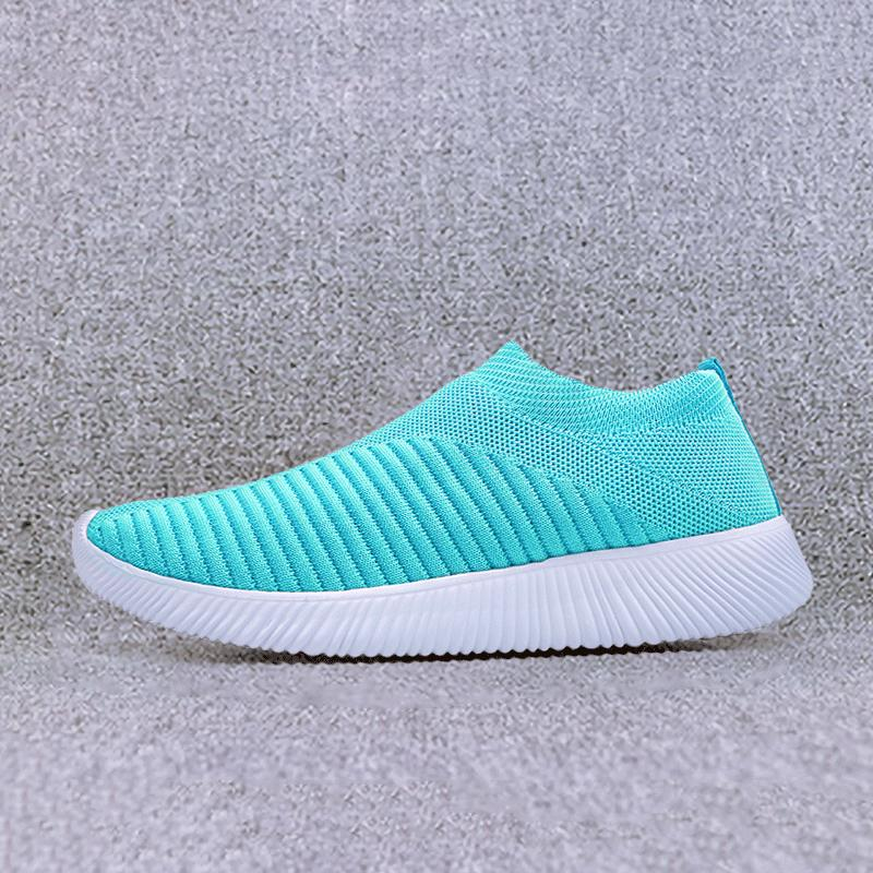 Women Summer Sport Fashion Flats Height Increasing Breathable Mesh Shoes UK7056B
