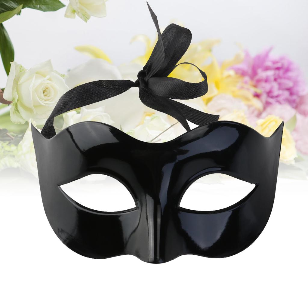 WINOMO Masquerade Costume Mask Black for Men Women Party Ball Halloween Mask