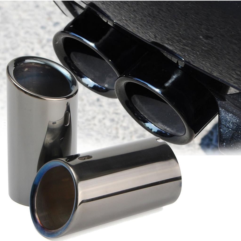 Pair Tail Exhaust Tip Pipes Titanium Black For Bmw E90 E92 325i 328i 3 Series 06 10 Buy At A Low Prices On Joom E Commerce Platform