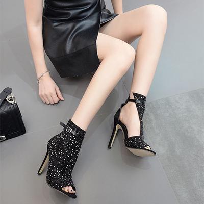 adec60a8d2f Women Pumps Crystal High Heels Design Sexy Gladiator Thin Heels ...