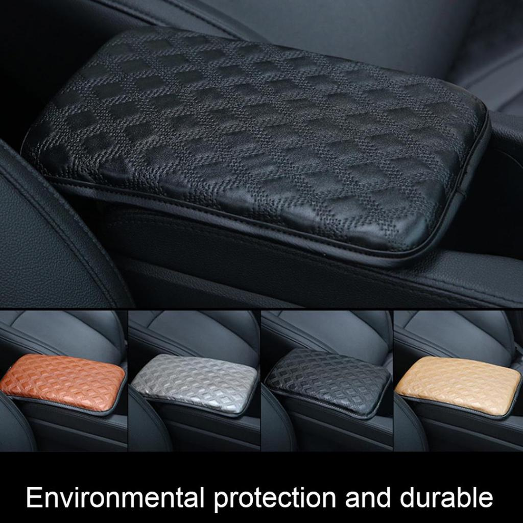 Vehicle Center Console Armrest Cover Pad Stylish Pattern Design Car Armrest Cover for Most Car Universal Fit Soft Comfort Center Console Armrest Cushion for Car