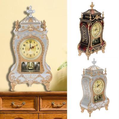 Desk Alarm Clock Vintage Clock Classical Royalty Sitting Room Desk Imperial Furnishing Creative