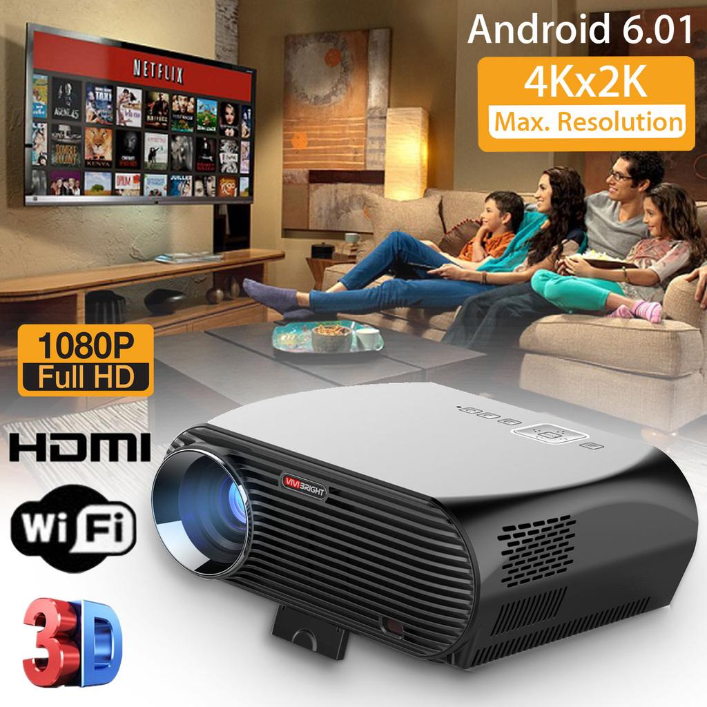 20P Full HD LED Projector HDMI Home Theater Cinema Wifi 20D ...