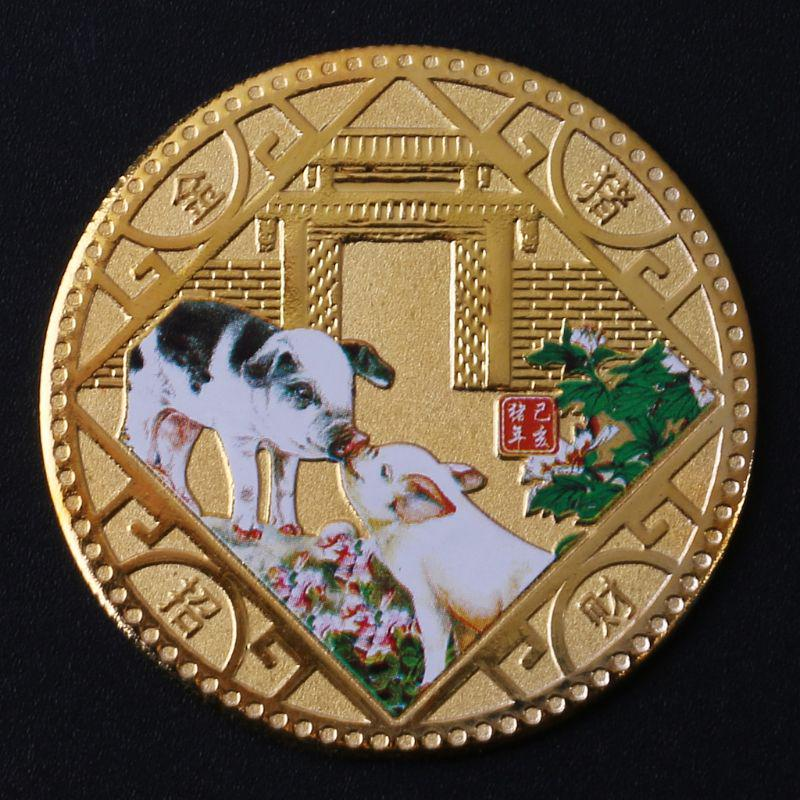 Festival Souvenir Gifts Cute Annimal Metal Coin Year of The Dog Silver Coins